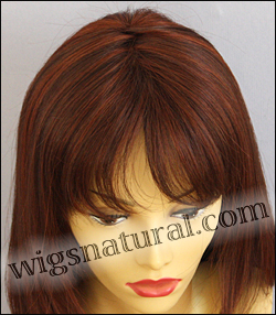 Envy mono part wig Leyla, color shown dark red