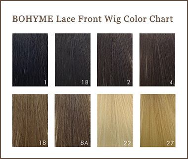 BOHYME Lace Front Wig Color Chart