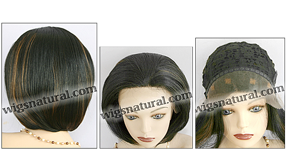 SEPIA Lace Front Wig Topaz, Heat-Resistant Futura Synthetic Fiber, color FS1B/27