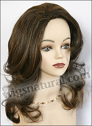 Human hair wig H XEENA, SEPIA Wig Collection