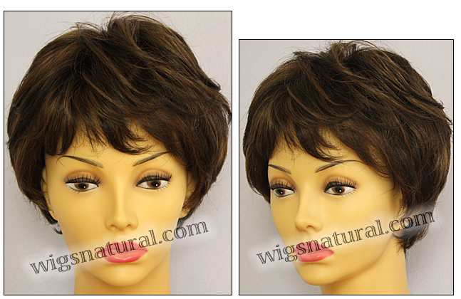 Envy mono top with lace front wig Tina, color shown medium brown