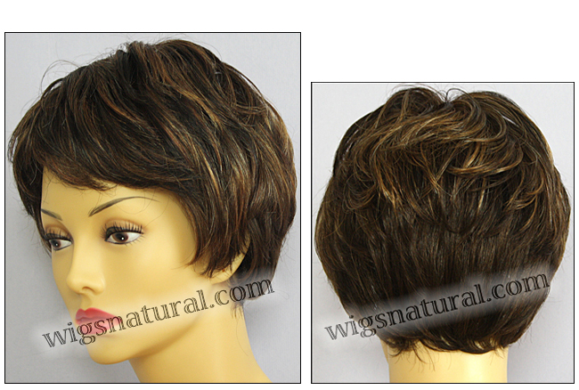 Envy mono top with lace front wig Tina, color shown chocolate caramel