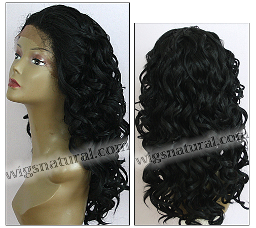 LACE WIG CH-TRICIA, Sister Chiffon Double Lace Front Wig, Remy fiber lace front wig, color #1