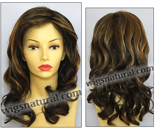 Envy wigs, lace front wig Alana, color shown chocolate caramel