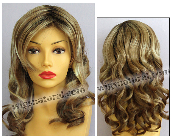 Envy lace front wig Alana, color shown sparkling champagne