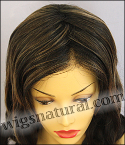 Envy lace front wig Alana, color shown amaretto cream