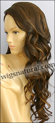 Monofilament wig, BOBBI BOSS Lace mono top wig Shasha, Heat-proof Synthetic hair, color #4327