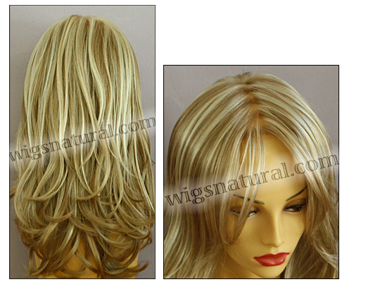 Envy mono top with lace front wig Bobbi, color shown light blonde