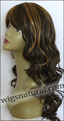 Human hair blend wig HB CREATIVE, SEPIA Love it wig collection, color P4/27