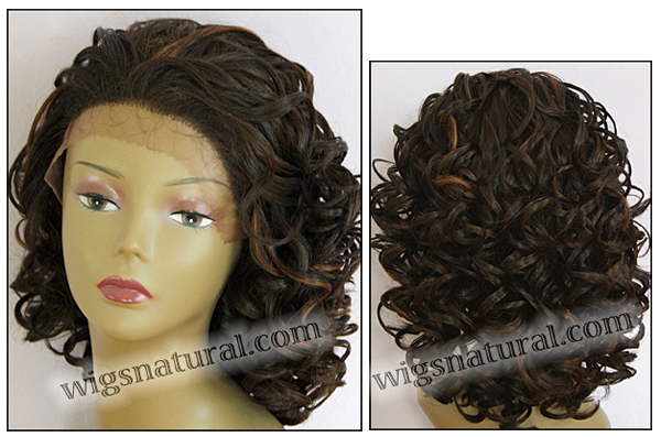 LACE WIG CH-RHEA, Sister Chiffon Double Lace Front Wig, Remy fiber lace front wig, color FS4/30