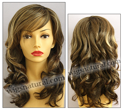 Envy wigs, lace front wig Alana, color shown toasted sesame