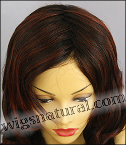 Envy lace front wig Alana, color shown chocolate cherry