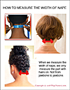 How to measure the width of nape