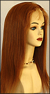 Ukrainian virgin hair lace wig, Russian virgin hair lace wig, wig style UR-Copper-SStraight-24HL22-20