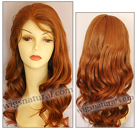 Full Hand-tied Monofilament wig, Virgin Brazilian Remy Hair, virgin European remy hair, or virgin Asian hair, wig style VWMN-MCopper-bodyCurl-25-26
