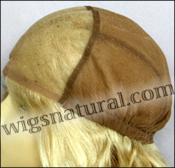 Glueless Lace Front Wig, Virgin European hair, virgin Brazilian hair, or virgin Asian hair, style VWGL-PlaBlond-BodyCurl-19-26