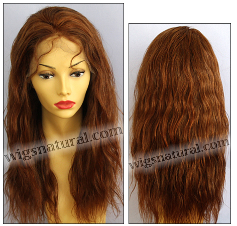 Silk Top Lace Front Wig, or lace front wig, Virgin European hair, virgin Brazilian hair, or virgin Asian hair, VWLF-DCopper-PNWave-22HL24-22