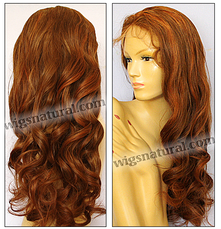 Silk top full lace wig, or Full lace wig, Virgin European hair, virgin Brazilian hair, or virgin Asian hair, style VW-CBrown-bodyCurl-25HL22-28