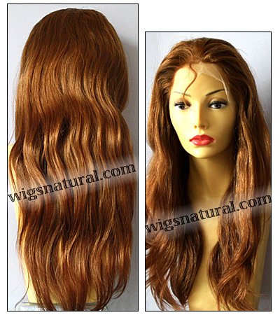 Silk top full lace wig, or Full lace wig, Virgin European hair, virgin Brazilian hair, or virgin Asian hair, style VW-CBrown-PNWave-24HL22-24