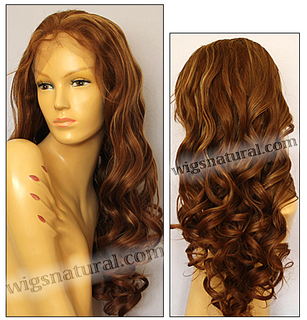 Silk top full lace wig, or Full lace wig, Virgin European hair, virgin Brazilian hair, or virgin Asian hair, style VW-LCBrown-bodyCurl-10NHL22x26-30
