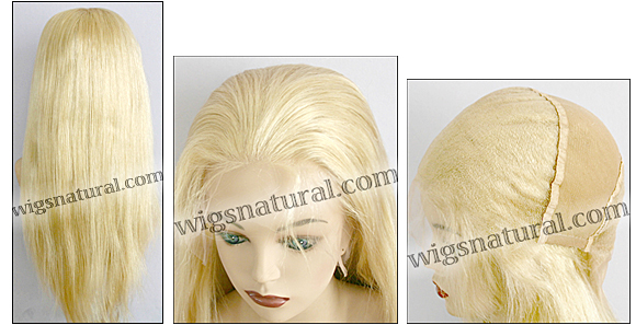 Silk top full lace wig, or Full lace wig, Virgin European hair, virgin Brazilian hair, or virgin Asian hair, style VW-PlatiBlond-Straight-17-22