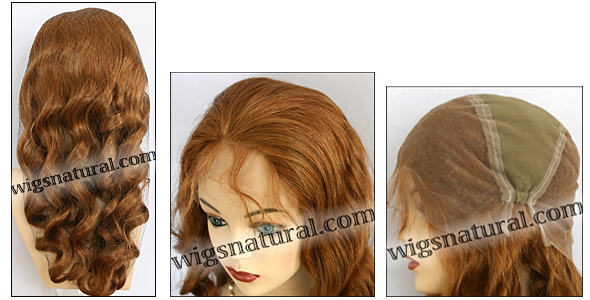Silk top full lace wig, or Full lace wig, Virgin European hair, virgin Brazilian hair, or virgin Asian hair, style VW-LGCBrown-BodyCurl-22M8-24