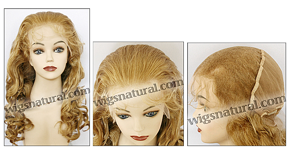 Silk top full lace wig, or Full lace wig, Virgin European hair, virgin Brazilian hair, or virgin Asian hair, style VW-MGBlond-BodyCurl-14-24