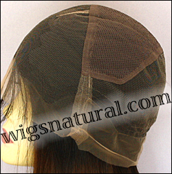 Silk top full lace wig, or Full lace wig, Virgin European hair, virgin Brazilian hair, or virgin Asian hair, style VW-GLBrown-straight-7T2-20