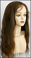 Thin skin around full lace wig, virgin European hair, virgin Brazilian hair, or virgin Asian hair, style VWTS-MBrown-Straight-4-22, Custom