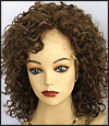 Thin skin around full lace wig, virgin European hair, virgin Brazilian hair, or virgin Asian hair, style VWTS-MGBrown-Curly-7HL4-16, Custom