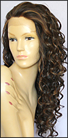 SEPIA Lace Front Wig LF-Isabella, Heat-Resistant Synthetic Fiber, color P4/27/30