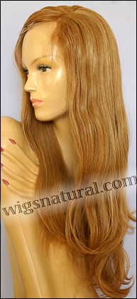 Silk top full lace wig, or Full lace wig, Virgin European hair, virgin Brazilian hair, or virgin Asian hair, style VW-StrawbBlond-Straight-15HL26-26