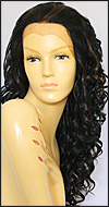 SEPIA Lace Front Wig LF-Isabella, Heat-Resistant Synthetic Fiber, color FS1B/30