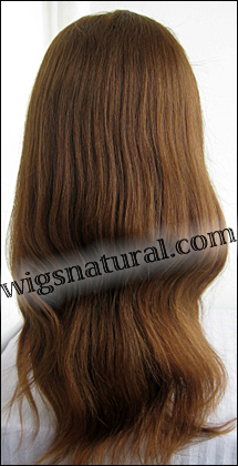 Silk top full lace wig, or Full lace wig, Virgin European hair, virgin Brazilian hair, or virgin Asian hair, style VW-MCBrown-Straight-22M30-22