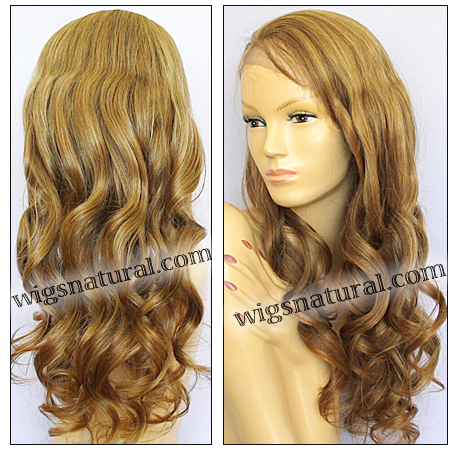 Silk top full lace wig, or Full lace wig, Virgin European hair, virgin Brazilian hair, or virgin Asian hair, style VW-GBlond-bodyCurl-14HLM7x14-28