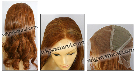 Silk top full lace wig, or Full lace wig, Virgin European hair, virgin Brazilian hair, or virgin Asian hair, style VW-MCopper-BodyCurl-26HL24-26