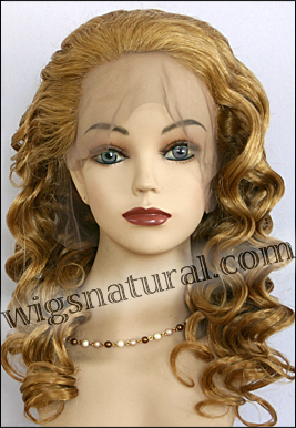 Silk top full lace wig, or Full lace wig, virgin European hair, virgin Brazilian hair, or virgin Asian hair, style VW-MGBlond-BodyCurl-11NHL10N-26