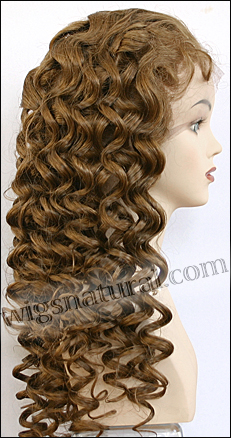 Silk top full lace wig, or Full lace wig, virgin Brazilian hair, or virgin Asian hair, style VW-GLBwown-BodyCurl-8HL7-28
