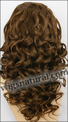 Silk top full lace wig, or Full lace wig, Virgin European hair, virgin Brazilian hair, or virgin Asian hair, style VW-GMBrown-BodyCurl-4BM7-22