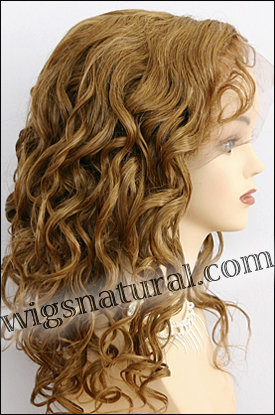 Silk top full lace wig, or Full lace wig, Virgin European hair, virgin Brazilian hair, or virgin Asian hair, style VW-DGBlond-BodyCurl-8-22