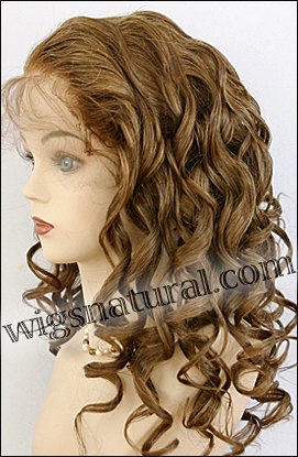 Silk top full lace wig, or Full lace wig, Virgin European hair, virgin Brazilian hair, or virgin Asian hair, style VW-LGBrown-BodyCurl-7-22
