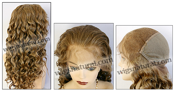 Silk top full lace wig, or Full lace wig, virgin European hair, virgin Brazilian hair, or virgin Asian hair, style VW-GLBrown-BodyCurl-11NHL8-26