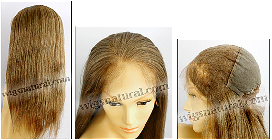 Silk top full lace wig, or Full lace wig, virgin European hair, virgin Brazilian hair, or virgin Asian hair, style VW-DBlond-LightYaki-M10B11N-22