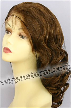 Silk top full lace wig, or Full lace wig, virgin European hair, virgin Brazilian hair, or virgin Asian hair, style VW-LGBrown-BodyCurl-8HL7-22