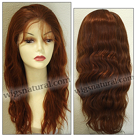 Silk top full lace wig, or Full lace wig, Virgin European hair, virgin Brazilian hair, or virgin Asian hair, style VW-LCopper-Nwavy-22-24