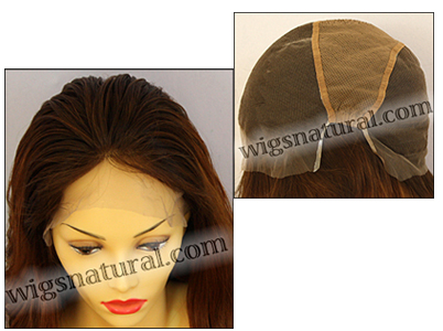 Silk top full lace wig, or Full lace wig, Virgin European hair, virgin Brazilian hair, or virgin Asian hair, style VW-TipAuburn-Nwave-30T28-24