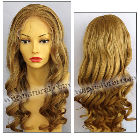 Silk Top Lace Front Wig, or lace front wig, Virgin European hair, virgin Brazilian hair, or virgin Asian hair, style VWLF-MBlond-bodyCurl-10N-26
