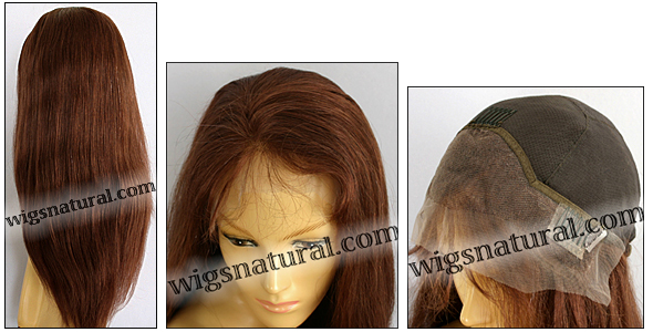 Silk Top Lace Front Wig, or lace front wig, Virgin European hair, virgin Brazilian hair, or virgin Asian hair, VWLF-Auburn-Straight-30-24