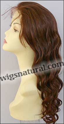 Silk Top Lace Front Wig, or lace front wig, Virgin European hair, virgin Brazilian hair, or virgin Asian hair, style VWLF-Auburn-BW-22HL31-24