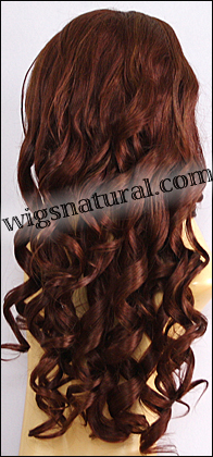 Silk Top Lace Front Wig, or lace front wig, Virgin European hair, virgin Brazilian hair, or virgin Asian hair, VWLF-Auburn-BodyCurl-30M28-26